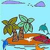 Игра Раскраска: Тропический остров
