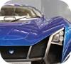 Игра Пазл: Синяя машина