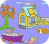 Игра Child and farm animals coloring