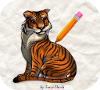 Игра Рисовалка: Тигр