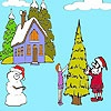 Игра Раскраска: Зимний день
