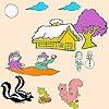 Игра Раскраска: Животные и снег