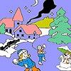 Игра Раскраска: Игра в снежки