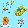 Игра Раскраска: Астронавт