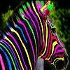 Игра Передвижной пазл: Цветная зебра