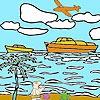 Игра Раскраска: Корабль