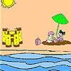 Игра Раскраска: Замок из песка