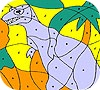 Game Alone dinosaur coloring