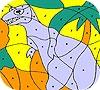 Игра Раскраска: Одинокий динозавр