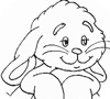 Игра Раскраска: Кролик