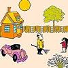 Игра Раскраска: Большой сад