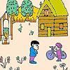 Игра Раскраска: Яблочный сад
