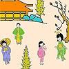 Игра Раскраска: Японский сад