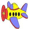 Игра Раскраска: Маленький самолет