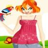 Игра Одевалка: Блум и попугай