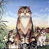 Игра Пятнашки: Усталый котик