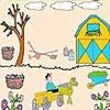 Игра Раскраска: Фермер в саду