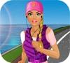 Игра Одевалка: Барби на пробежке