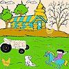 Игра Раскраска: Кот на ферме