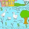 Игра Раскраска: Ферма и утки