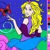 Игра Раскраска: Прекрасная принцесса