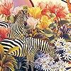 Игра Пазл: Зебры в саду