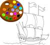 Игра Раскраска: Кораблик
