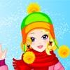 Игра Одевалка: Красивая зима
