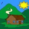 Игра Раскраска: Маленький домик