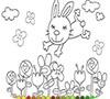 Игра Раскраска: Маленький зайка