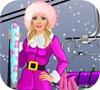 Игра Одевалка: Барби катается на лыжах