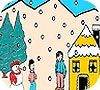 Игра Раскраска: Домик в лесу
