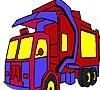 Game Garbage truck coloring