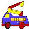 Игра Раскраска: Пожарная машина