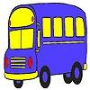 Игра Раскраска: Автобус