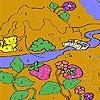 Игра Раскраска: Котик-Рыболов