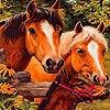 Игра Пятнашки: Лошадиная ферма