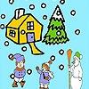 Игра Раскраска: Зимний сад