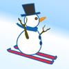 Игра Снеговик-лыжник