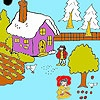Игра Раскраск: Зима и яблочки