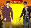Игра Одевалка: Эдвард и Джейкоб