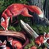 Игра Пазл: Лисички