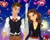 Игра Одевалка: Джастин и Лиза на свидании
