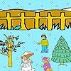 Игра Раскраска: Снеговик и Ко