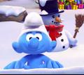 Игра Зимние забавы Смурфиков