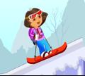 Игра Даша на сноуборде