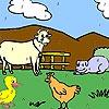 Игра Раскраска: Забавные животные