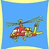 Игра Раскраска: Военный вертолет