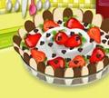 Игра Кулинарный класс Сары: Шоколадный торт со сливками