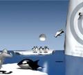 Игра ЙетиСпорт-Метание пингвина в мешень
